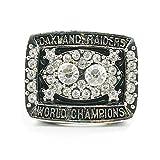 WSTYY AnillosCampeón Anillo de Plata del Campeonato de los Oakland Raiders 1980 Anillo de Campeonato Ventiladores de los Hombres joyería Medida de Anillo 9-13,with Box,11