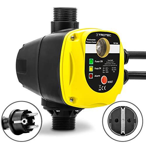 TROTEC Presostato electrónico con enchufe TDP DSA Para el control de bombas de jardín Interruptor de presión automático