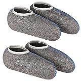 DESERMO 2er Set Stiefelsocken für Gummistiefel, mit Nässeschutz - weiche Socken, Gr. 43/44