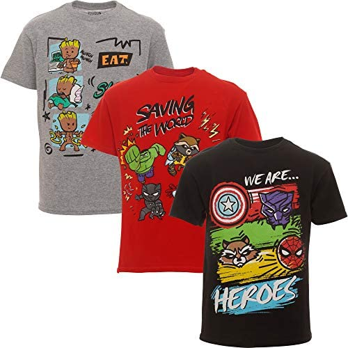 Marvel Avengers Guardians of The Galaxy Toddler Boys 3 Pack T Shirts 5T product image