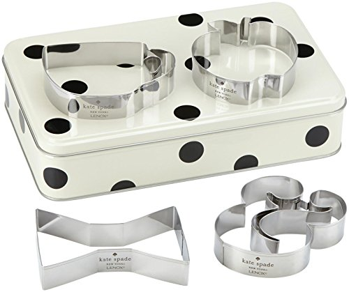 KSNY All in Good Taste Gift Storage Tin with Cookie Cutter, Aluminum