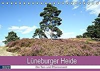 Lueneburger Heide - Die Tier- und Pfanzenwelt (Tischkalender 2022 DIN A5 quer): Wunderschoene Fotografien der wilden Tiere und Pflanzen in der Heide (Monatskalender, 14 Seiten )