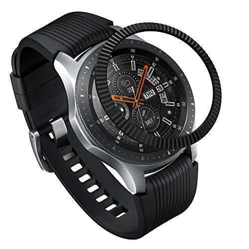 Ringke Bezel Styling for Galaxy Watch 46mm / Galaxy Gear S3 Frontier & Classic Bezel Ring Adhesive Cover Anti Scratch Stainless Steel Protection [Stainless] for Galaxy Watch Accessory GW-46-05