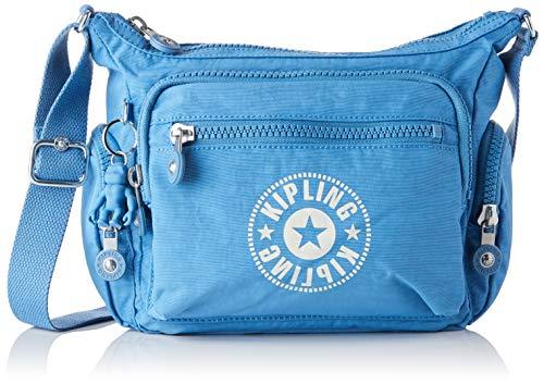 Kipling - Gabbie S, Bolsos bandolera Mujer, Azul (Dynamic Blue)