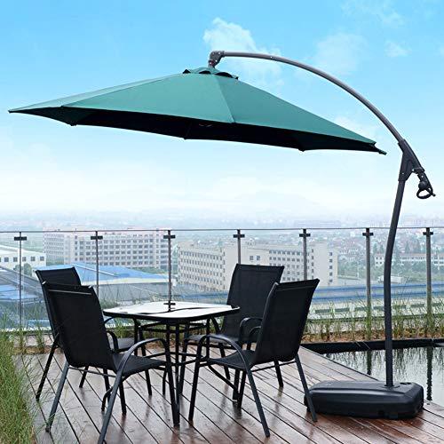 Sombrilla de Patio, 10 pies de Tipo voladizo Aluminio, diseño ...