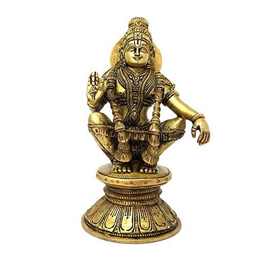 Sharvgun Hindu Deity God of Growth Ayyappa Son of Vishnu and Shiva Brass Murti for Puja Temple Home