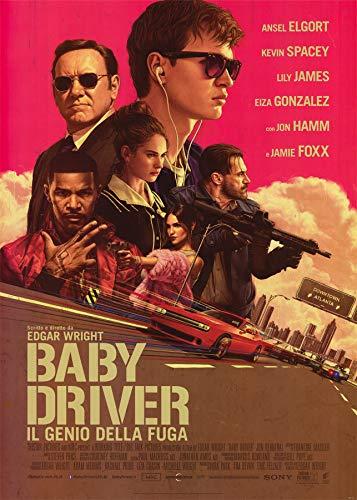 ConKrea Baby Driver - Póster Original de Cinema (70 x 100 cm)