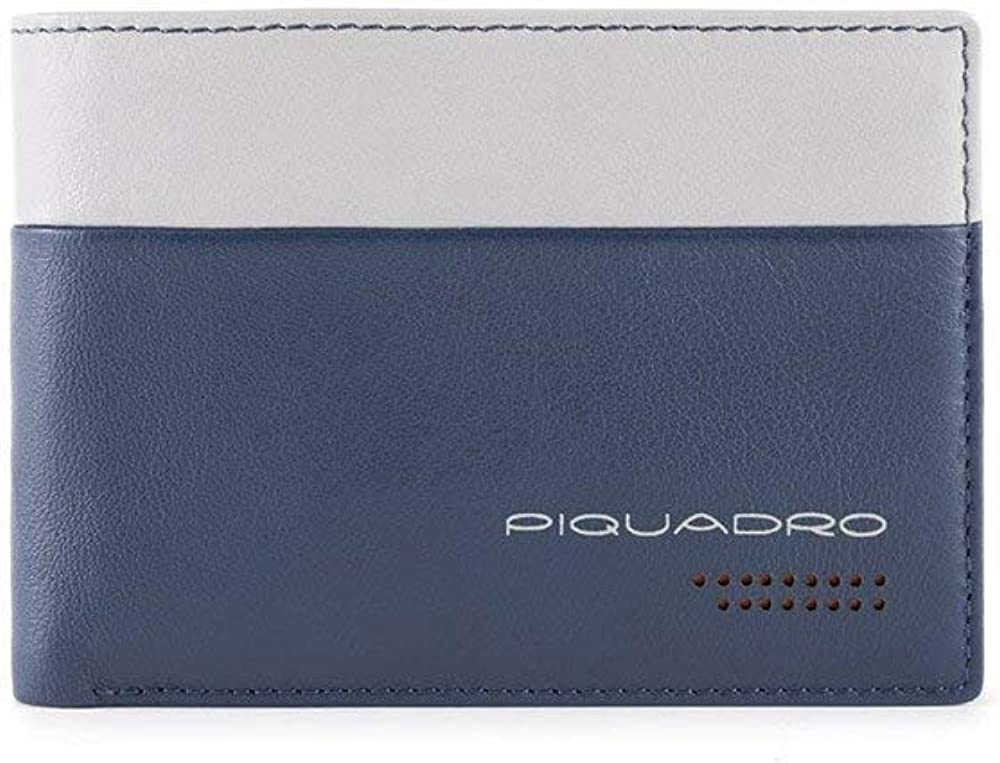 Piquadro portafoglio con porta carte di credito per uomo in pelle PU257UB00R