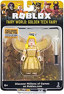 Roblox Fairy World: Golden Tech Fairy 2.75 Inch Figure with Exclusive Virtual Item Code