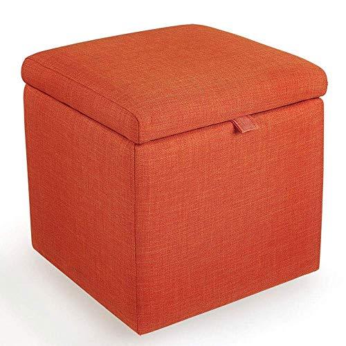 Haushaltsprodukte Klapplagerung Osmanische Sitzbank Fußstützenhocker Tragbarer Picknicksitz Vielseitige platzsparende Würfel (Größe: 43 * 43 * 45 cm) (Farbe: Grün)
