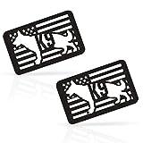 M-Tac Morale Patches K9 Police Dog Service Badge Pet Vest Fastener Hook & Loop (Black/GITD 2pcs. New)