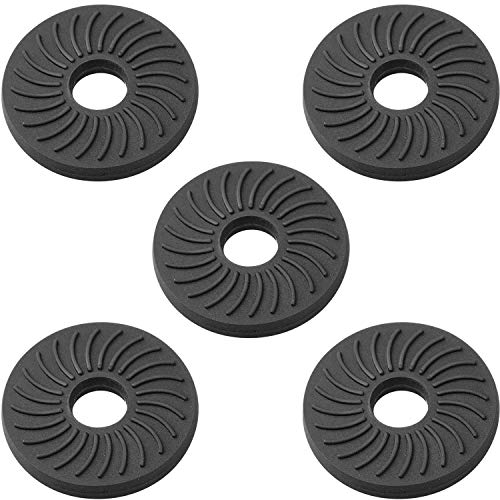 """Anwenk Rubber Pads Rubber Washers with 1/4"""" Screw Hole for Anti-Scratch Camera & Accessories Protection, Shorten Long Camera Screw Shaft, Enhance Friction,Anti-Slippery, 5Pack"""
