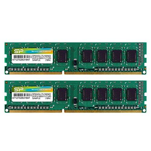 シリコンパワー デスクトップPC用メモリ 1.35V (低電圧) DDR3L-1600 PC3L-12800 4GB×2枚 240Pin Mac 対応 永久保証 SP008GLLTU160N22