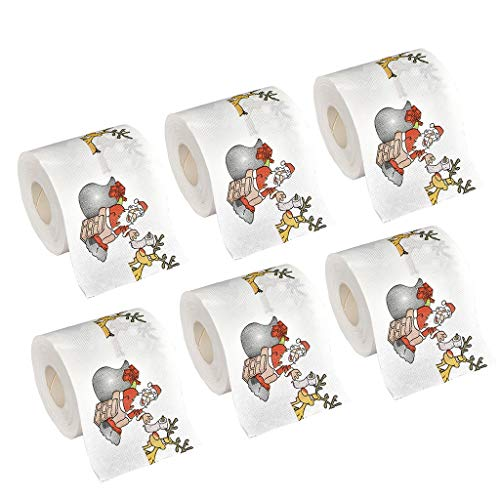 Shirt Luv Christmas Pattern Color Toilet Paper Santa Christmas Tree Printed Tissue Kitchen Dining Bar Accessories