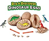 Dino Eggs Dig Kit, Dig Up Dinosaur Fossil Eggs, 12 Pack Unique Dig & Discover Dinosaur Eggs Toys for 3 4-5 6 7 Year Old Boys girls, Easter Egg Filler, Stocking Stuffers, Party Favors, STEM Toys