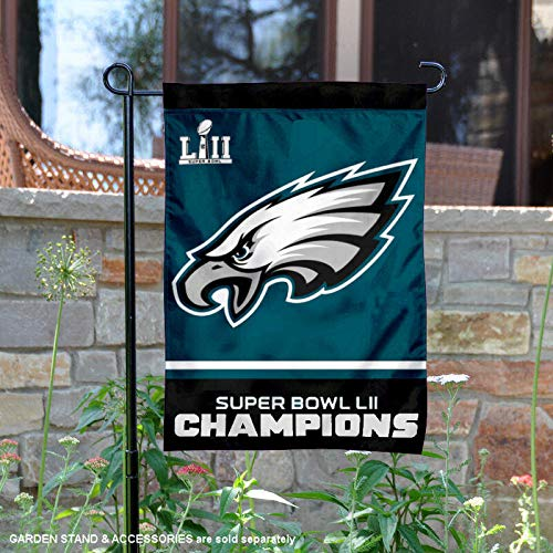 WinCraft Philadelphia Eagles Super Bowl 52 LII Champions Garden Flag