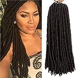 Straight Faux Locs Crochet Hair for Black Women 14 Inch Goddess Locs Crochet Hair Soft Dreadlocks for Braids Faux Locs Crochet Braiding Hair Extensions 6packs (14' (6-Packs), #4)