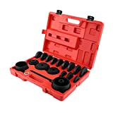 Herramientas de Cojinetes de Ruedas, 23 Piezas Kit de Extracción de Ruedas Extractor de rodamientos Reparación de Automóviles para Montaje Adaptador de la Rueda Delantera