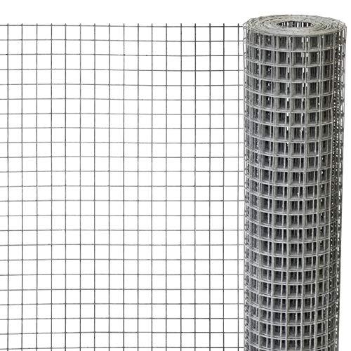 Windhager Drahtgitter verzinkt, Volierendraht für Hasen, Meerschweinchen oder Hühner, Maschendraht, Maschenweite 12,7 mm, 2,5 x 0,5 m x 0,63 mm, 79065