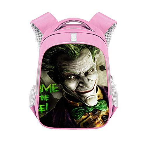 Lexue Boy and Girls Cartoon Backpack-Waterproof School Bag,Anime Backpack Game,School Daypack,Unisex/Child/Student,Pink 15