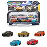 Micro Machines Starter Pack GM Icons – Incluye 5 vehículos, coches de carreras icónicos – Posibilidad de algo raro – Colección de coches de juguete Micromachines