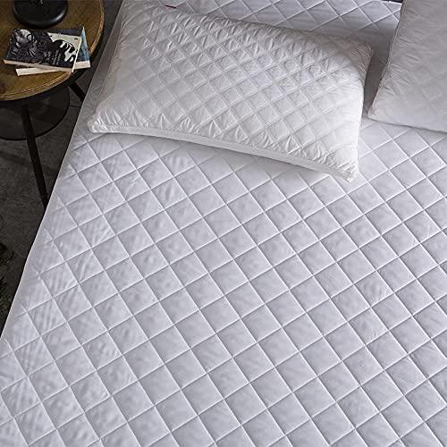 CYYyang Funda de colchón Anti chinches, Transpirable, Sábana Impermeable otoño e Invierno Engrosamiento -90x200 + 35cm