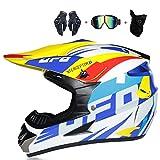 TYPING Motocross Helm Mann/Frau Rennspiel Bequem Und Waschbar Downhill DH Offroad Motorrad...