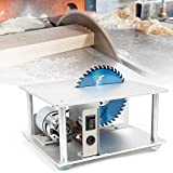5000 RPM Mini Table Saw Small Table Bench Saw Benchtop Saw for DIY Handmade Model Acrylic Cutting 96-120W