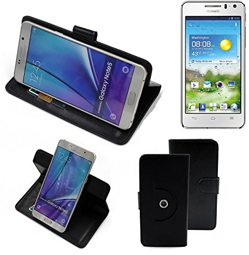 K-S-Trade Handy Hülle Für Mobistel Cynus T1 Flipcase Smartphone Cover Handy Schutz Bookstyle Schwarz (1x)