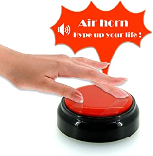 Z-DADA Airhorn Button - DJ Horn Sound Effect - Funny Gag Gifts - Noise Maker (Battery Included) (V2)