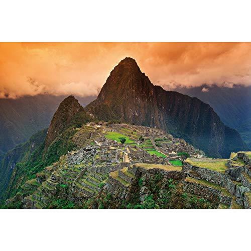 GREAT ART Fototapete – Landschaft Südamerika Peru – Wandbild XXL Berge Dekoration Machu Picchu Inka Stadt Ruine Panorama Bild Wallpaper Foto-Tapete Wandtapete Poster Wanddeko (210 x 140 cm)
