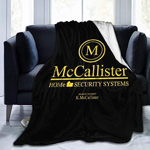 haoqianyanbaihuodian Mccallister Home Alone Security Systems, manta de franela de forro polar, ligera, ultrasuave, cálida, para sofá