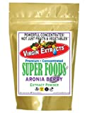 Virgin Extracts (TM) Pure Premium Orgaantioxidant-fruits.comc Freeze Dried Aronia Berry Chokeberry 4:1 Extract Concentrate SuperFood Powder (4 x Stronger) 8oz Pouch