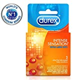 Durex Intense Sensation Condom, 3 Count (Pack of 6)