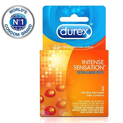 Durex Intense Sensation Condom, 3 Count (Pack of 6)
