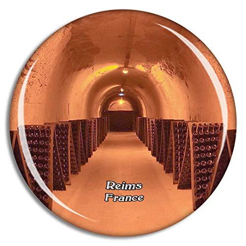 Weekino Reims Frankreich Champagne Taittinger Kühlschrankmagnet 3D Kristallglas Touristische Stadtreise Souvenir Collection Geschenk Starker Kühlschrank Aufkleber
