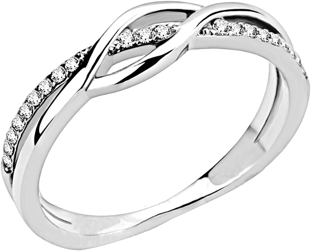 Jude Jewelers Stainless Steel Waved Knot Engagement Wedding Promise Anniversary Statement Ring