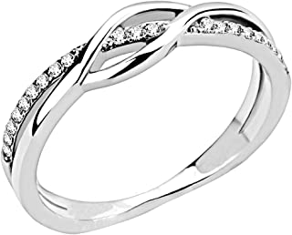 Jude Jewelers Stainless Steel Waved Knot Engagement...