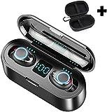 XY-M Auriculares Bajos Pesados Mini SmartTouch Auriculares inalámbricos Bluetooth 5.0 Auricular con una Pantalla, micrófono estéreo en los Auriculares Hi-Fi con Caja de Carga para iPhone y A.