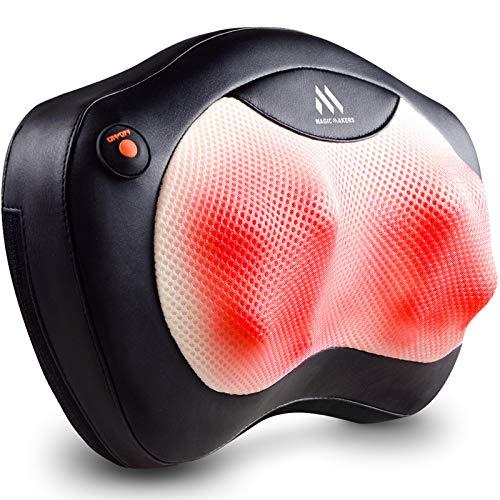 Shiatsu Nackenmassagegerät - Rückenmassagegerät mit Wärme, Massagekissen für Schultern, unteren Rücken - Entspannungsgeschenke für Männer, Frauen, Schulter- und Nackenmassagegerät