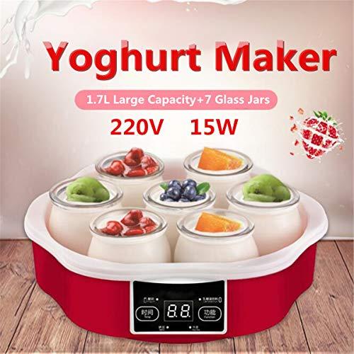 SISHUINIANHUA 220V Elettrico Automatico Yogurt Maker Automatiche Intelligenti touchs Schermo Fai da Te Yogurt Macchina con Timer 7 vasi di Vetro Strumento Container