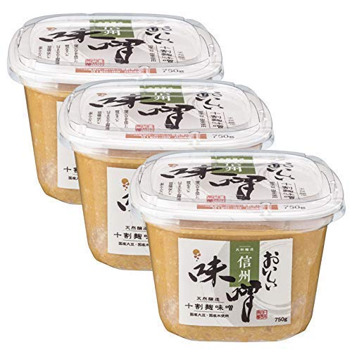 日本自然発酵 おいしい味噌(信州味噌) 750g 3カップ | まろやか 料理 旨味たっぷり 風味豊か 上品 万能調味料 本格的 国産