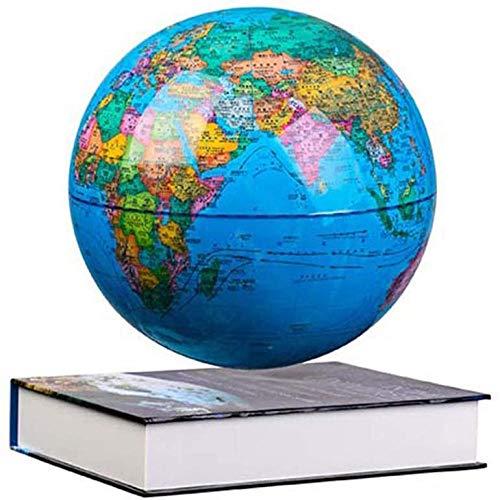 CHOUE 8 Zoll Rotating Globe mit LED-Farblichtern,Blau Erde Schwebend Zum Unterrichten