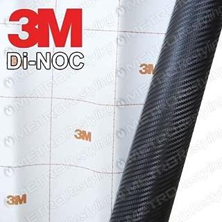3M DI-NOC CA-421 BLACK CARBON FIBER 1ft x 1ft ( 1 sq/ft) Flex Vinyl Wrap