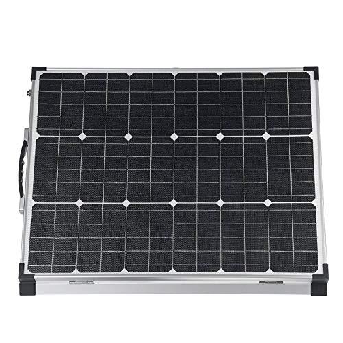 Paneles Solares Monocristalinos Panel Solar con Controlador 100W Maleta Plegable Solar Plegable para Hogar Impermeable