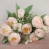 家の装飾アクセサリーのための多色のバラの花の花瓶偽のデイジープラスチックの花結婚式の装飾偽の花 (C)