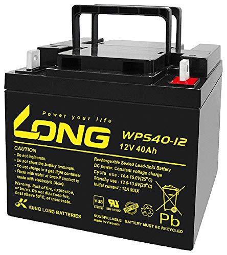 Kung Long Akku 12V 40Ah Pb Batterie Bleigel WPS40-12 VDs kompatibel MP45-12, NP38-12I, 38Ah, 39Ah, 40Ah, 42Ah, 45Ah, 50Ah