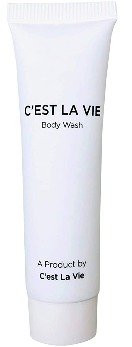 50 Bulk Pack - Fig & Olive Luxury Body Wash By C'EST LA VIE - 22ml / 0.75 fl oz - Travel Guest & Hotel Amenities - Individual Clean White Tubes in Eco Responsible Packaging. Paraben & Cruelty Free?