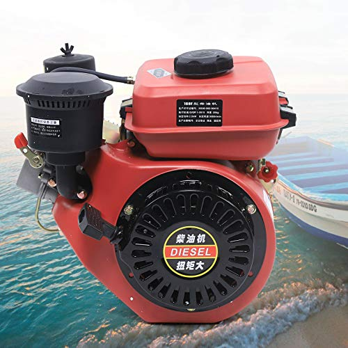 Diesel Engine Single Cylinder Forced Air Cooling for Agricultural & Marine Use, Air-cooling Vortex Combustion US STOCK (Model 2)