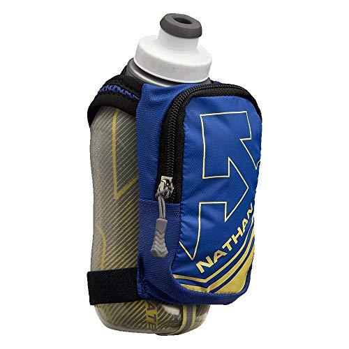 Nathan Insulated Handheld Flask. SpeedShot-Plus. Grip Free Running Bottle.